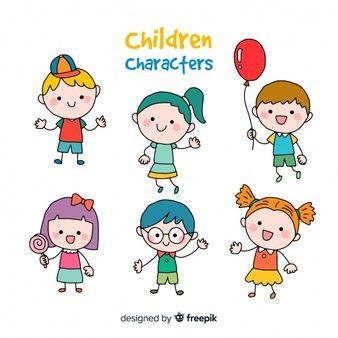 Coleccion De Dibujos Animados Lindo Personaje De Cocodrilo Descargar Vectores Premium Ninos Felices Dibujos Ninos Felices Caras De Ninos