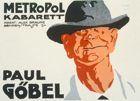 Design 54 Berlin metropol cabaret paul göbel poster 1918 for the metropol