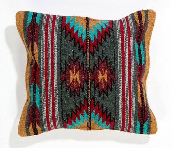 Southwest Decor Southwest Pillows Azteca Handwoven Decorative Pillow Covers in Red and ...