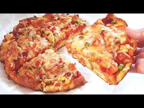 Resep Pizza Teflon Hanya Dengan Roti Tawar Youtube Di 2021 Rotis Makanan Dan Minuman Ide Makanan