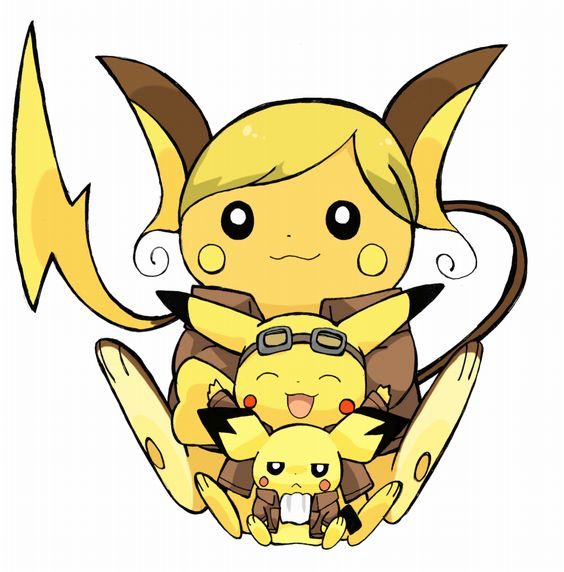 Pichu, Pikachu, and Raichu as Attack on Titan characters ...