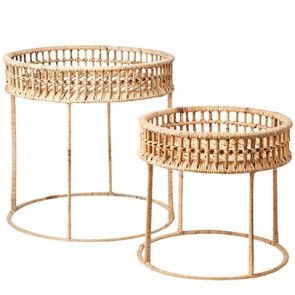 Table Basse Rotin Riviera Rattan Pendant Light Tropical Living Room Bamboo Furniture