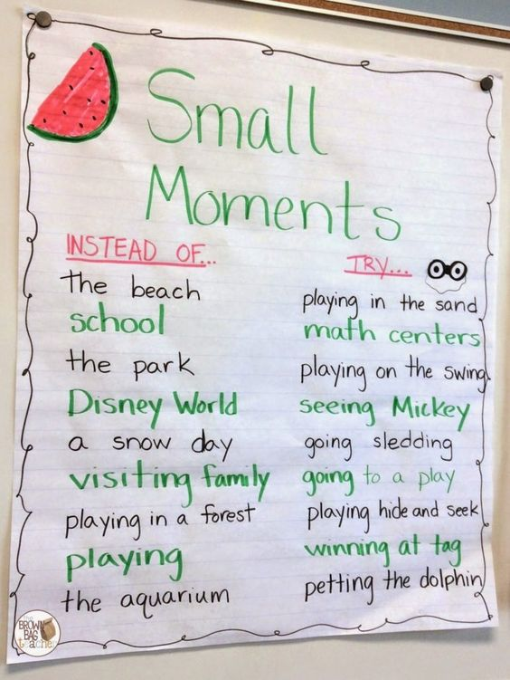 Hey, friends! Today I wanted to drop by and share how our Writer's Workshop is developing. We jumped right into Narrative Writing and we are loving sharing stories about our lives. Pulling out our handy-dandy binoculars, our first series of mini-lessons was zooming in on small moments. Our writing mini-lessons are all based on mentor...