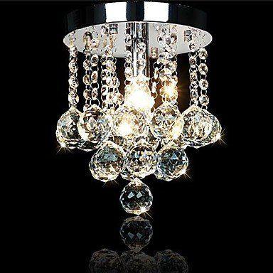 YM Lampe 200mm Fashion Kristall Deckenleuchte Lampe Luxus Anhänger Kronleuchter Licht, Weiß