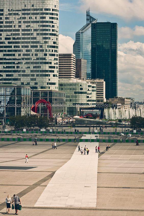 La défense Paris photography, skyscrapers, Fineart print, interior design, Urban landscape, modern style, contemporary home decor, wall art
