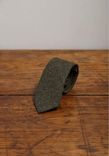 Shetland Wool Tweed Tie, Gisburn, by Lissom and Muster - £60.00 - Lissom & Muster