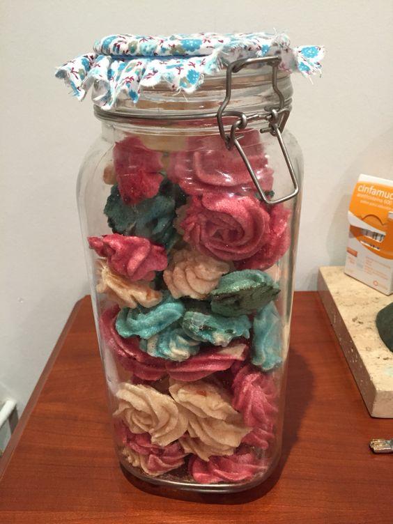 Rosas de merengues