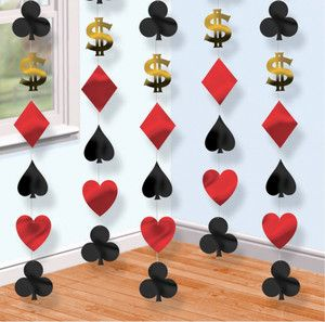 Casino Party hanging decorations Cards Vegas Poker Bridge Playing Cards | eBay