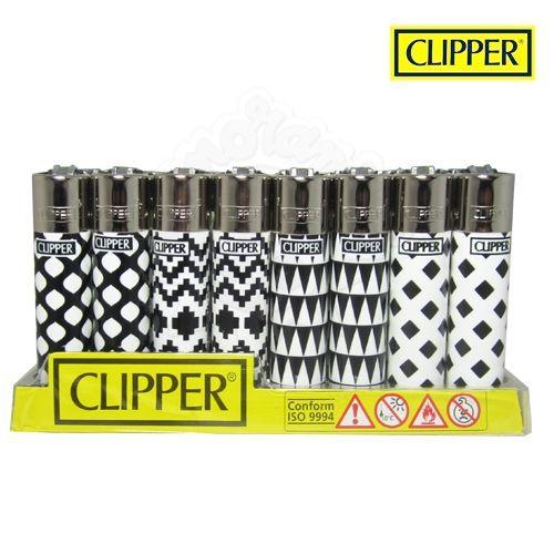Boite de 48 briquets Clipper Geometric