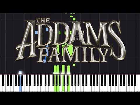 The Addams Family Theme Piano Tutorial Synthesia Jonathan