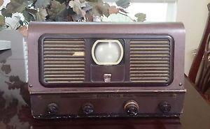 "Pilot TV-37 TV37 Vintage 1949 3"" Screen Tabletop Tube Type Old Retro TV"