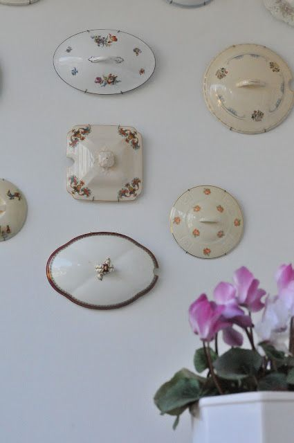 Tureen Lids as Wall Decor