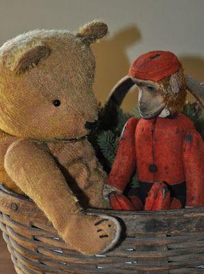 old bear & monkey...