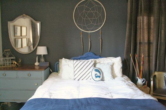 Love these elements! Have arrows and dreamcatchers in my room and am actually working on a very large dreamcatcher like this in my room.