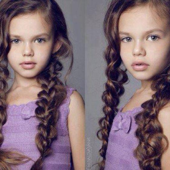 Beautiful child model.  Lovely hair