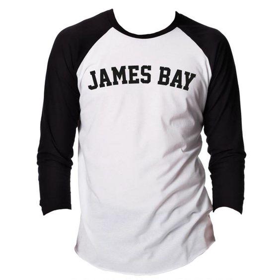 james bay - James Bay College Baseball Shirt - Small