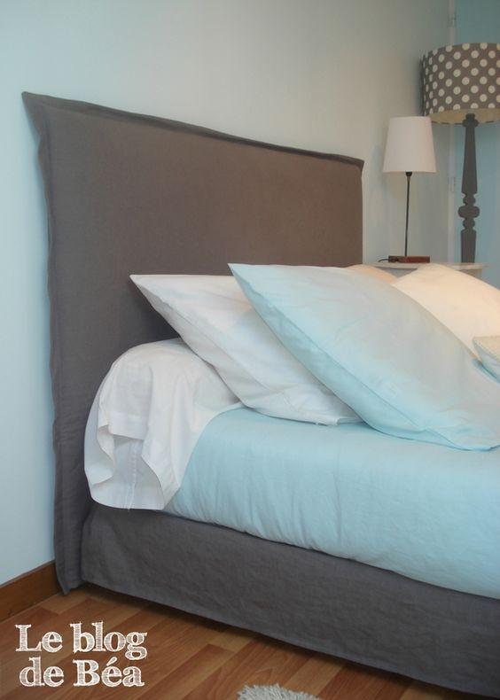 ++++ diy Housse pour ma tête de lit et cache sommier
