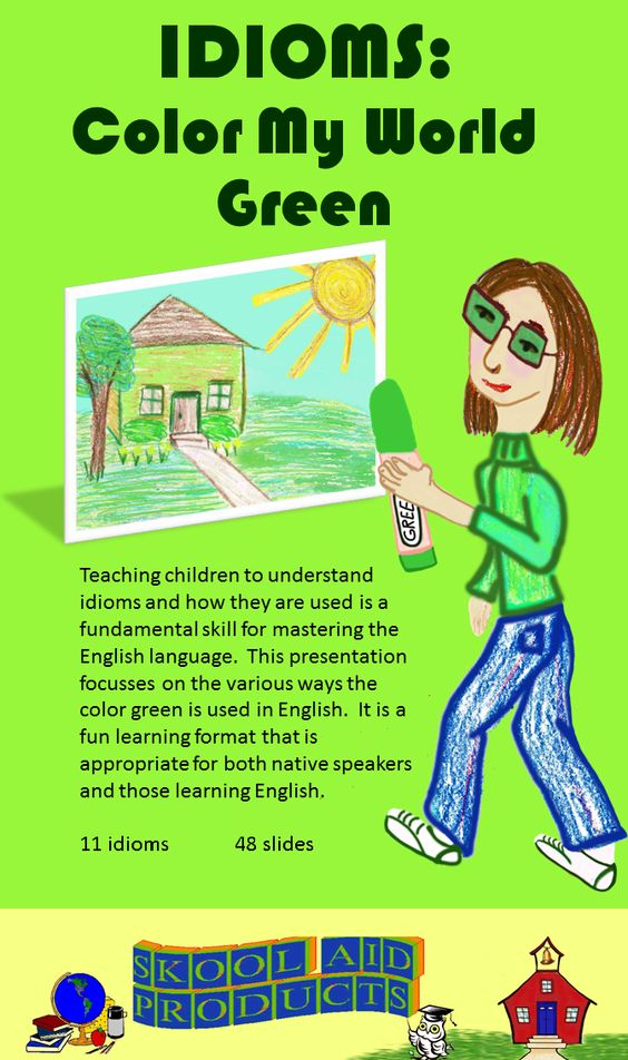 Color Idioms,List of English Colour Idioms - Learn4Good.com