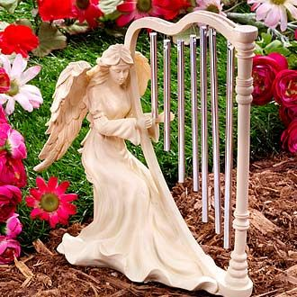 Angel with Harp Wind Chime @Theresa Payne: Angel Wings, Beautiful Angels, Harp Chime, Don T Harp, Angels Touch, Angel Encounters, Harp Wind, Angel Dolls