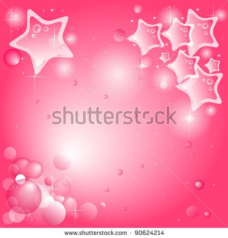 pink background with stars
