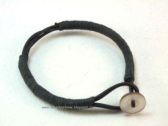 black wrapped bracelet 1 button toggle slender boho bracelet 2494