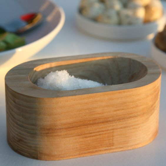 love this wood salt cellar   # Pin++ for Pinterest #