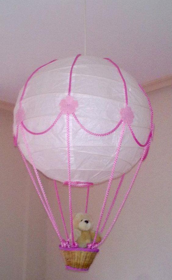 Wip diy lampara globo para el cuarto de mi hija me ha for Lamparas cuarto bebe