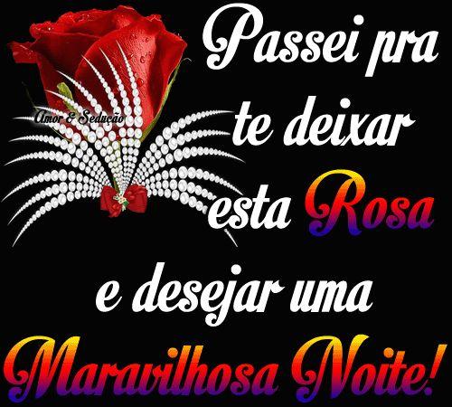 Uma rosa pra alegrar a sua noite