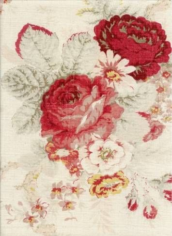 Waverly Norfolk Vintage Rose fabric  ( I had this in wallpaper, put it in my Victorian royal chamber room!)