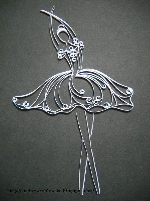 Quilled ballerina: