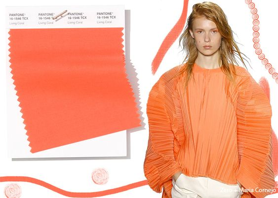 Pantone Spring/ Summer 2019 Colors Trends: Living Coral