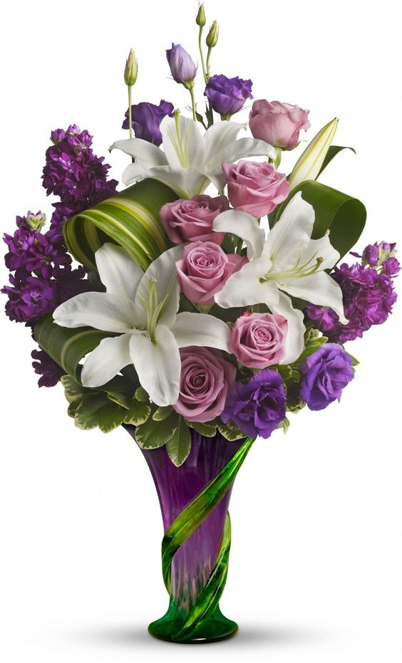 Teleflora's Indulge Her Bouquet - Lavender Roses Save 25% on this bouquet and many others with coupon code TFMDAYOK1B2 Offer expires 05/14/2012.: