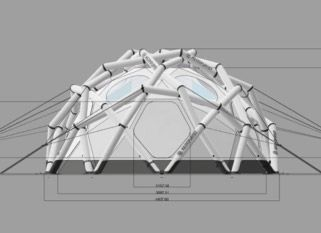 Mavericks tent by Helmplanet The whole tent is preassembled and can be set up by one single person in no time. Its special geodesic structure is deu2026 & Mavericks tent by Helmplanet The whole tent is preassembled and ...