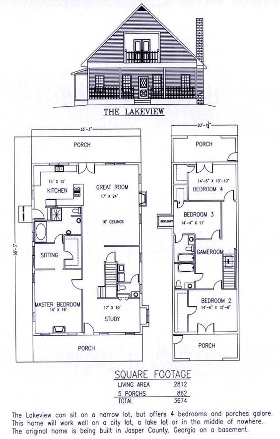 the lakeview; residential steel house plans manufactured homes