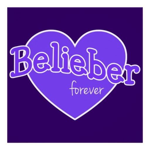 Belieber Forever Poster - Justin Bieber