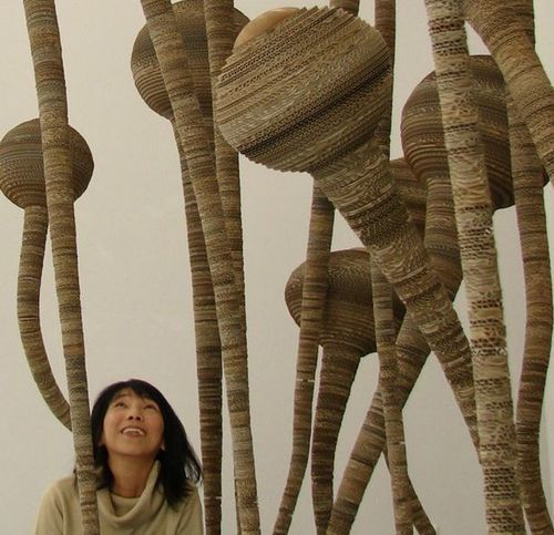 Tracy Luff's cardboard sculpture: