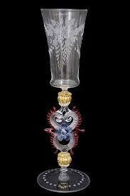 Image result for antique murano glass stemware