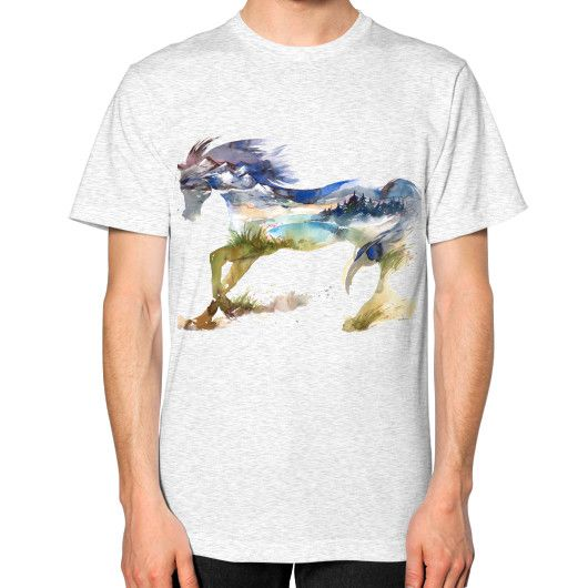 Equestrian Apparel - Horse Landscape - Unisex T-Shirt (on man)