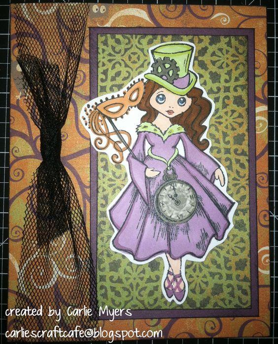 Moonlight & Halloween Magic (stampendous stamp)