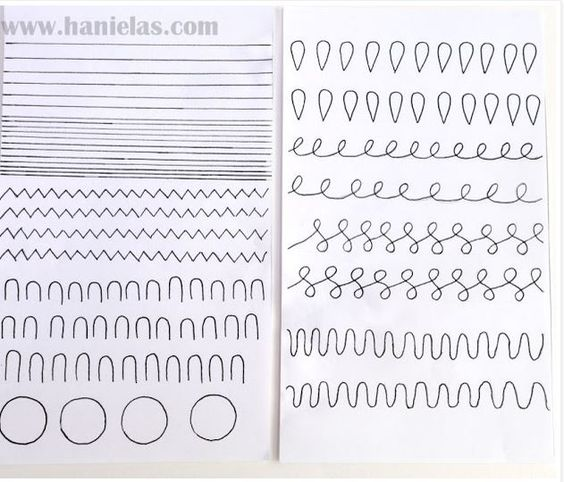 Cake Frosting Design Templates : Practice Sheet from Hanielas TIPS: Piping Practice ...