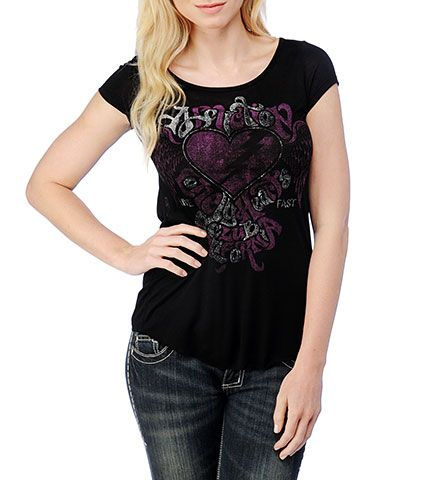 Lonely Heart Circus Scoop Neck Tee | Affliction Official Store