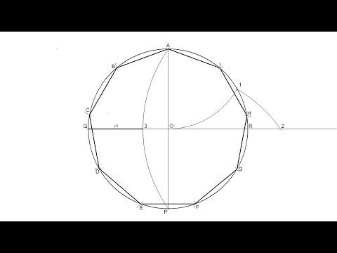 How To Draw A Regular Nonagon Inscribed In A Circle Youtube Technical Drawing Drawings Drawing Skills