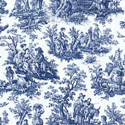 Image Detail For Waverly Rustic Toile Navy Blue White