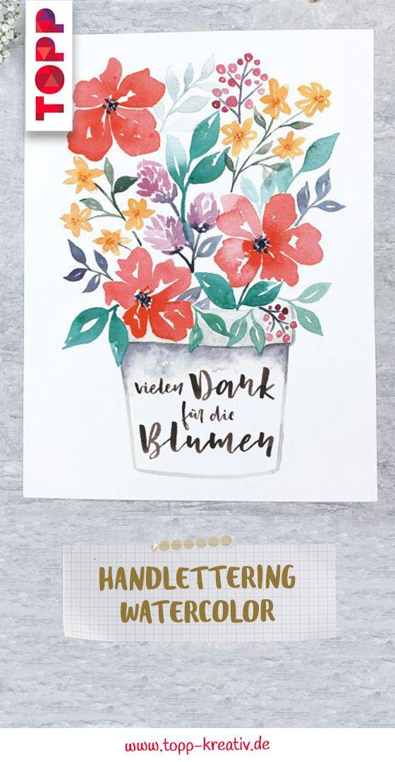 Handlettering Watercolor In 2020 Handschrift Handlettering Und
