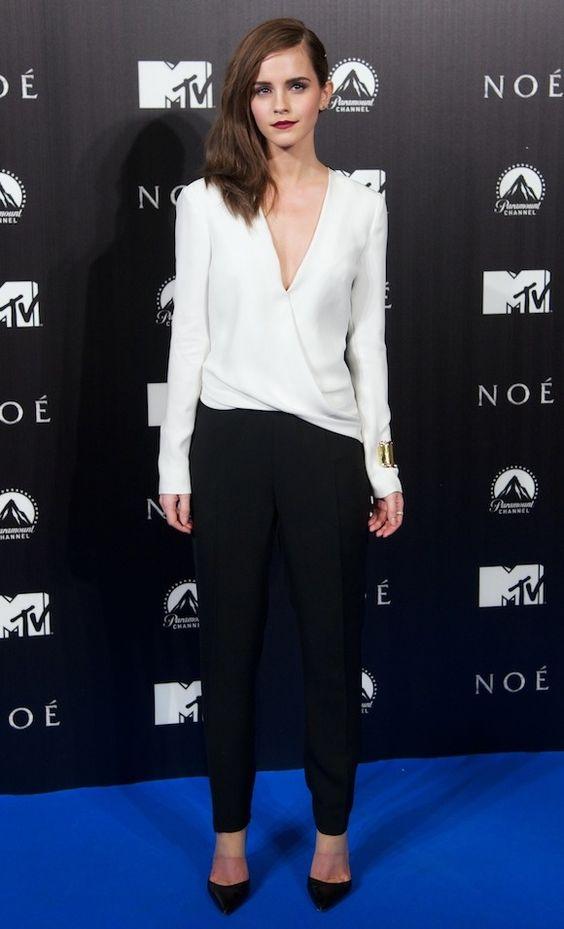 Emma Watson wearing J Mendel