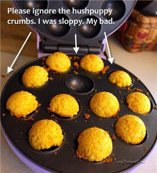 Stovetop Hushpuppies No Deep Frying Required Baby Cakes Maker Babycakes Recipes Babycakes Cake Pop Maker
