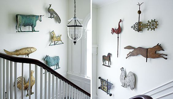 I love finding pieces of weathervanes for hanging on our wall!! (: