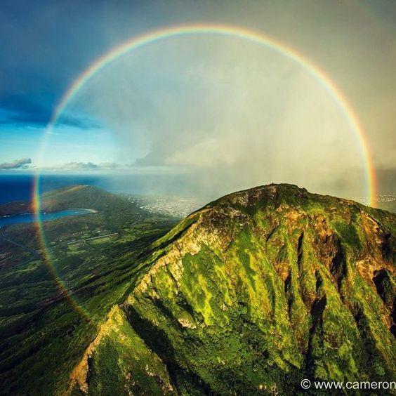 ハワイで完璧な虹