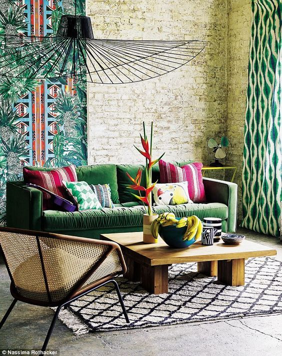 Tropical Decor Trend Interior Decor Inspirations Modern Mid Century Furniture Tropical Home Decor Tropical Decor Tropical Interior