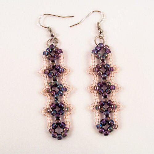 Simple seed bead earrings.